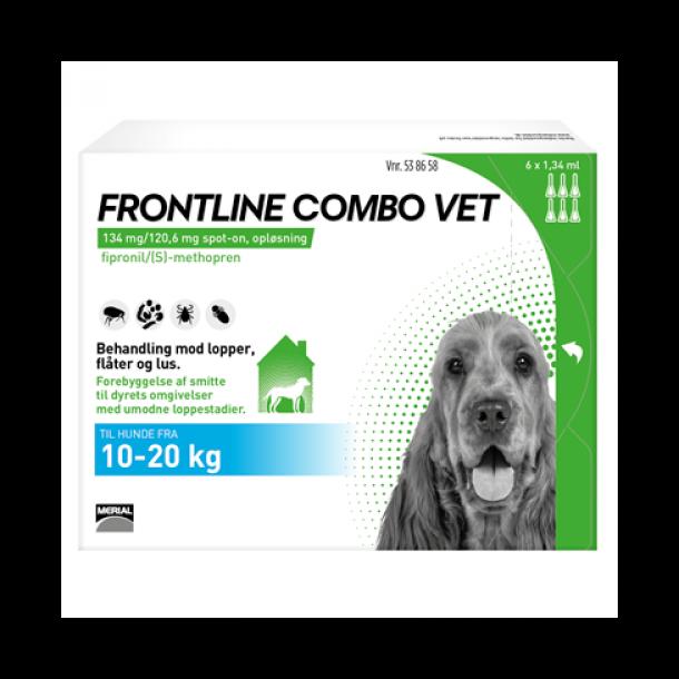 Frontline Combo Vet loppemiddel til hund 10-20 kg 6 pipetter