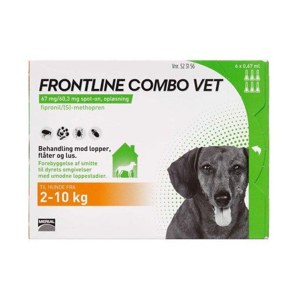 Frontline Combo Vet loppemiddel til hund 2-10 kg 6 pipetter