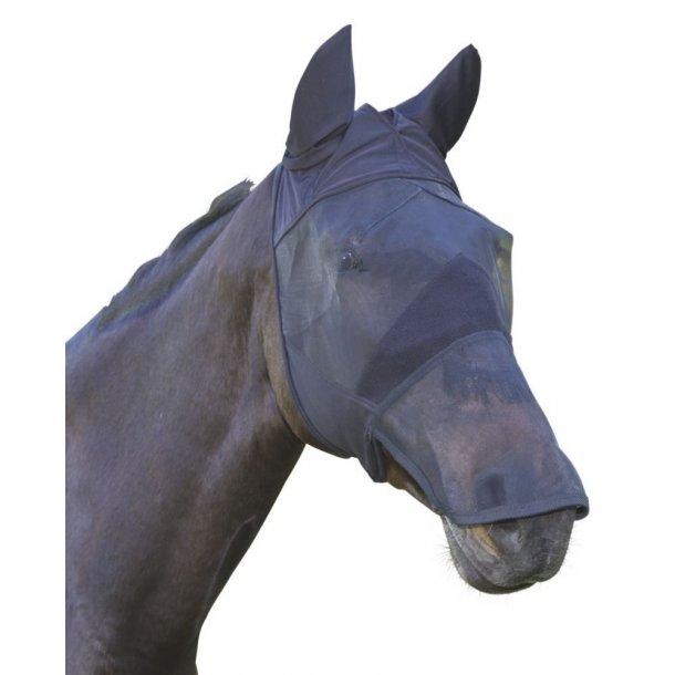 Fluemaske m. øre & mulenet sort