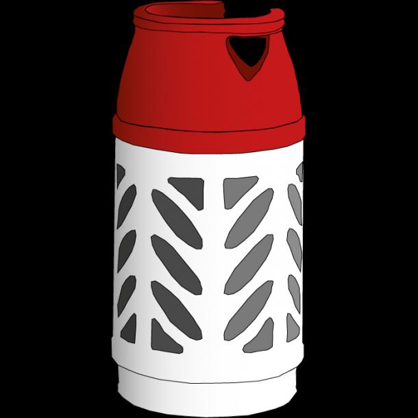 Gasflaske 10 kg i letvægtsflaske AFHENTET
