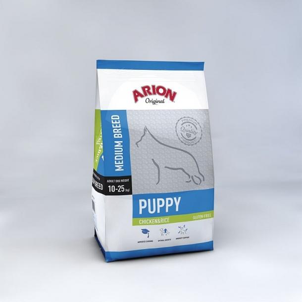 Arion Puppy Medium Kylling & Ris Hvalpefoder 12 kg