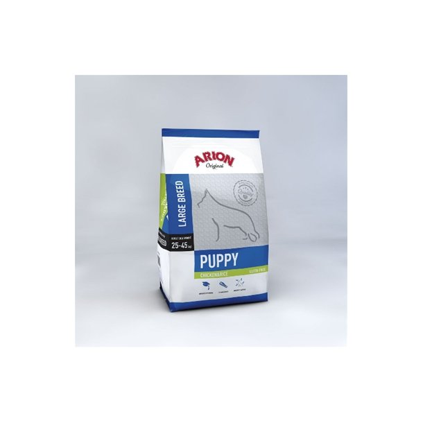Arion Puppy Large Kylling & Ris Hvalpefoder 12 kg
