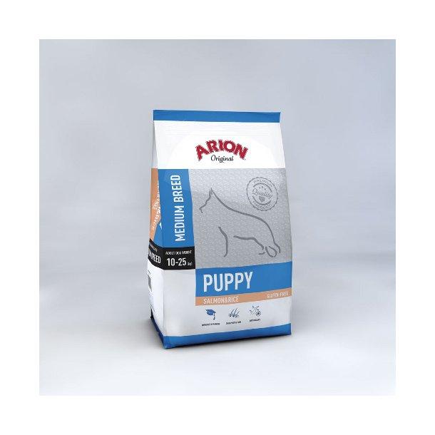 Arion Puppy Medium Laks & Ris 12 kg