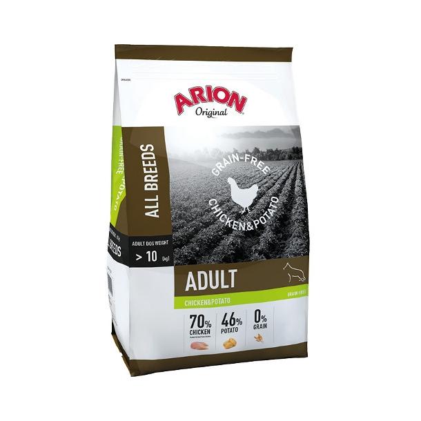 Arion Kornfrit Hundefoder Kylling og Kartoffel 12 kg