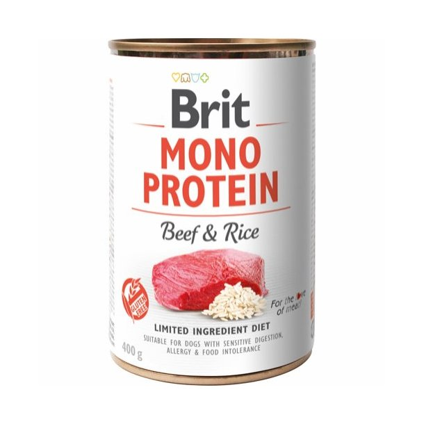 Mono Protein Vådkost Bøf & Ris