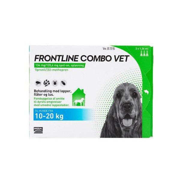 Frontline Combo Vet loppemiddel til hund 10-20 kg