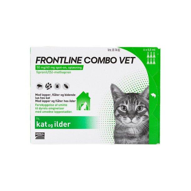 Frontline Combo Vet loppemiddel til kat 6 pipetter