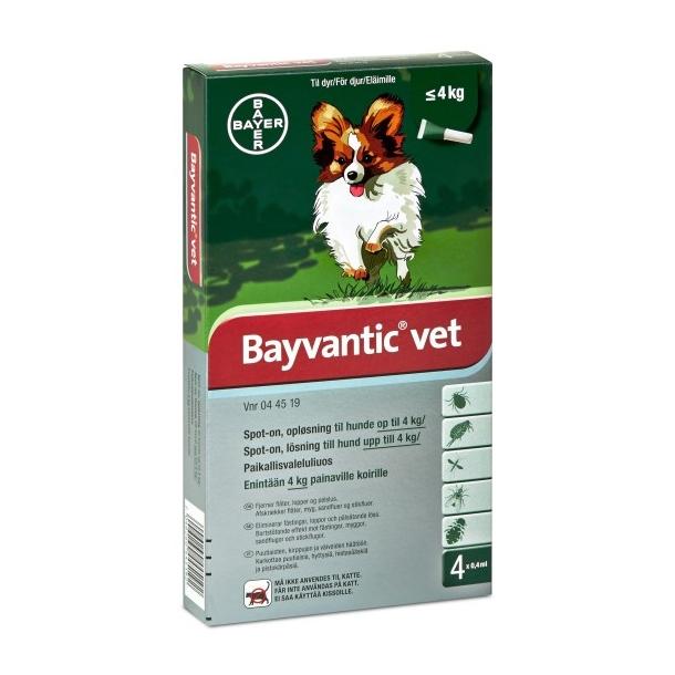 Bayvantic Vet loppemiddel til hund op til 4 kg