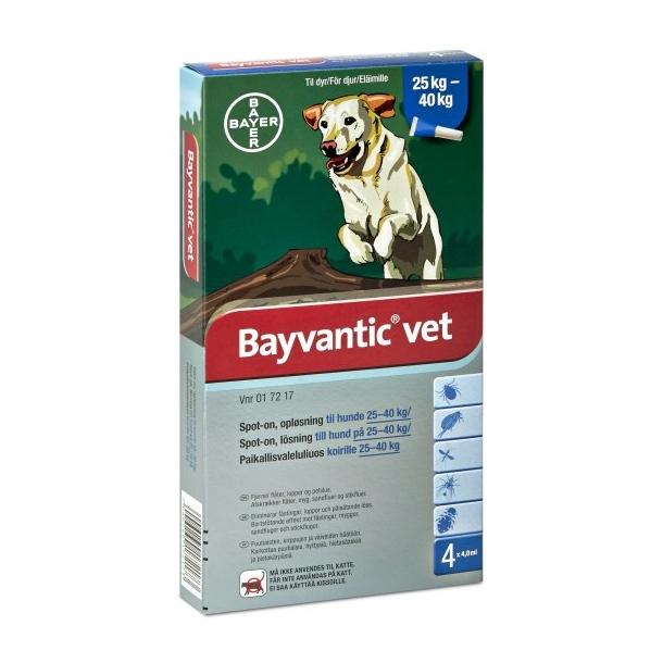 Bayvantic Vet loppemiddel til hund 25-40 kg