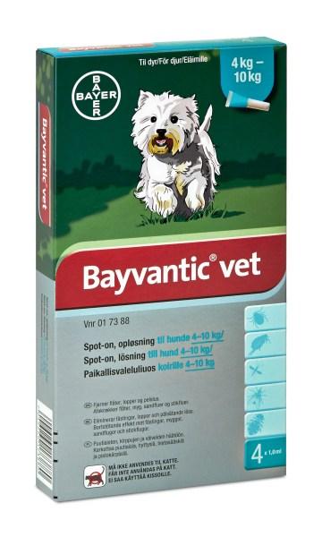 bayvantic vet loppemiddel til hund 4 10 kg loppemidler. Black Bedroom Furniture Sets. Home Design Ideas