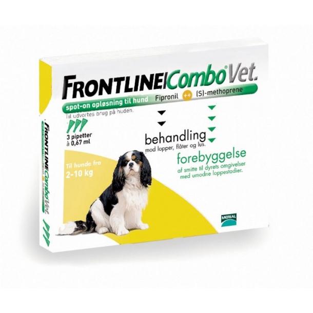 frontline combo vet loppemiddel til hund 2 10 kg. Black Bedroom Furniture Sets. Home Design Ideas